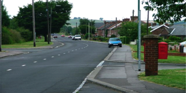 Low Moor Road, Langley Park, where the accident took place
